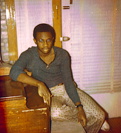 David Sancious leaning on piano